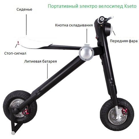 Электросамокат iBalance Carbon Fiber Electric Scooter Black